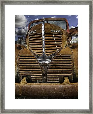 The Beauty Of Rust Framed Print