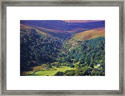 View From The Sally Gap, Ireland Framed Print
