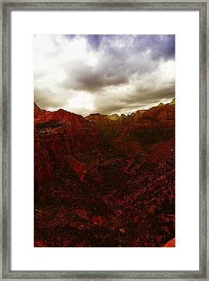 The Beauty Of Zion Natinal Park Framed Print