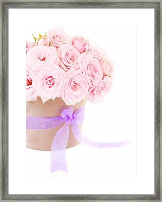 The Beauty Pink Roses Framed Print by Boon Mee