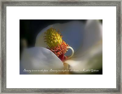 The Beauty Within 2 Framed Print