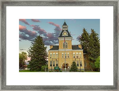 The Beaverhead County Courthouse Framed Print by Chuck Haney
