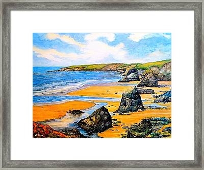 The Bedruthan Steps Cornwall Framed Print by Andrew Read