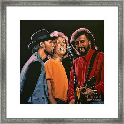 The Bee Gees Framed Print by Paul Meijering