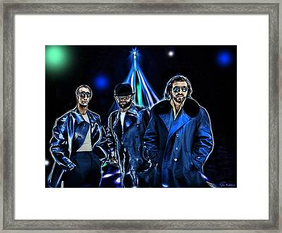The Bee Gees Framed Print by Tyler Robbins