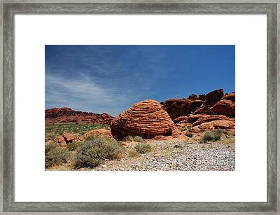 515p The Beehive In Valley Of Fire Framed Print