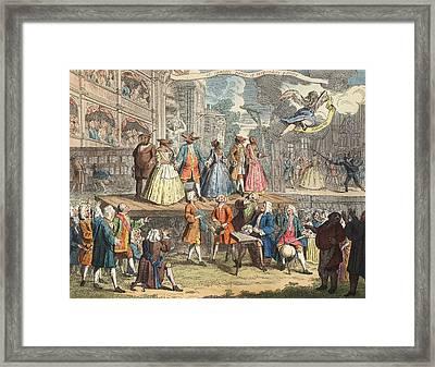 The Beggars Opera, Illustration Framed Print by William Hogarth