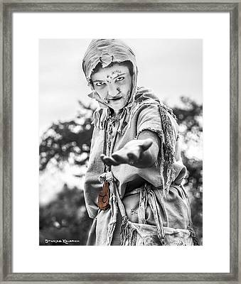 Framed Print featuring the photograph The Begging Leprous by Stwayne Keubrick
