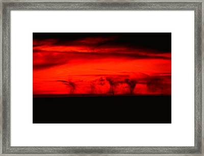 The Begining Of A Summer Storm Framed Print