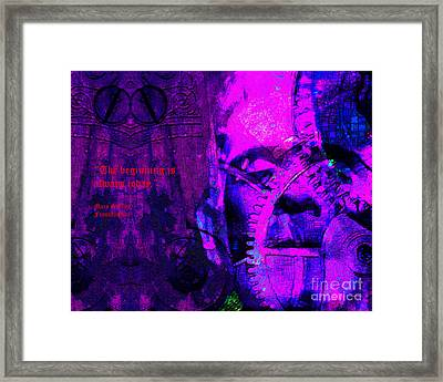 The Beginning Is Always Today 20130718 Text V2 Framed Print
