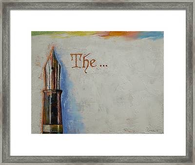 The Beginning Framed Print by Michael Creese