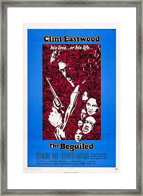 The Beguiled, Us Poster, Clint Eastwood Framed Print