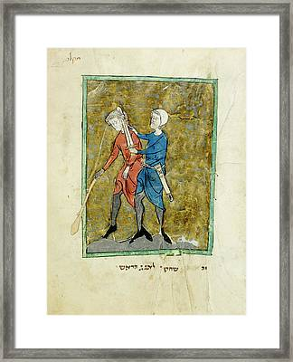 The Beheading Of Agag Framed Print by British Library