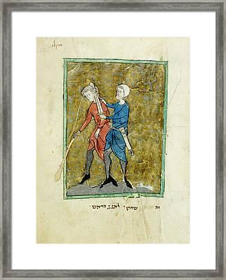 The Beheading Of Agag Framed Print