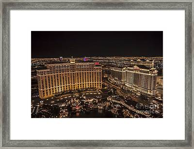 The Bellagio Casino Framed Print