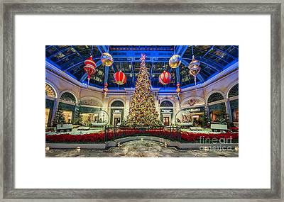 The Bellagio Christmas Tree Framed Print