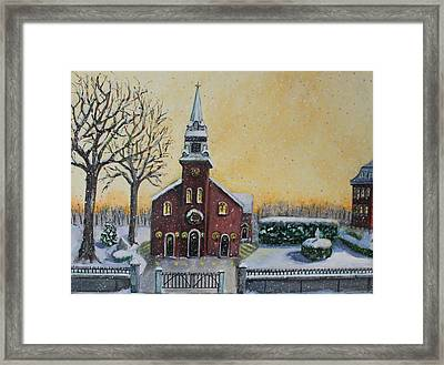 Framed Print featuring the painting The Bells Of St. Mary's by Rita Brown