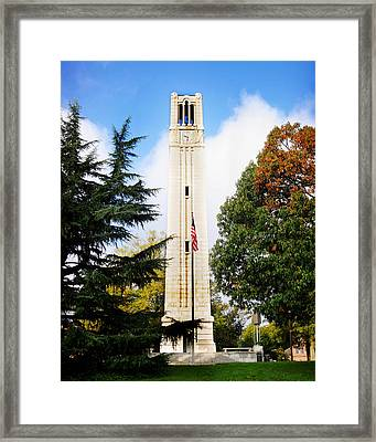 The Belltower At Nc State University Framed Print