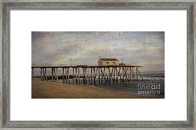 Framed Print featuring the photograph The Belmar Fishing Club Pier by Debra Fedchin