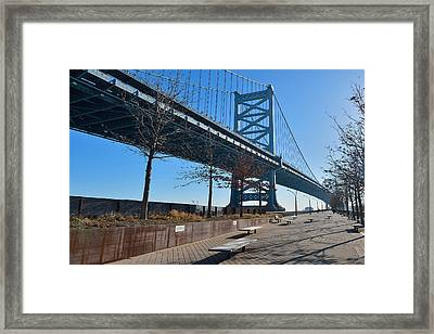 The Ben Franklin Bridge Framed Print