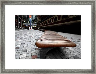 Framed Print featuring the photograph The Bench - 001 by Dorin Adrian Berbier