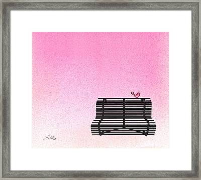 The Bench Framed Print by Daniele Zambardi