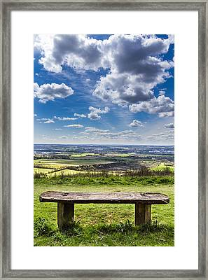 The Bench. Framed Print by Gary Gillette