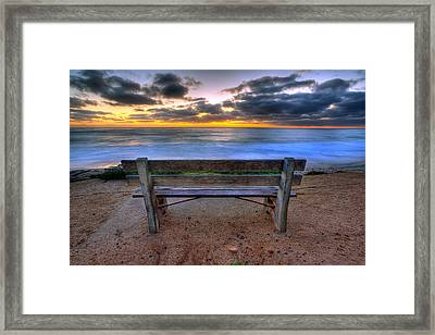 The Bench II Framed Print by Peter Tellone