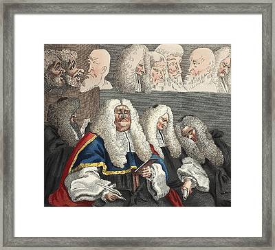 The Bench, Illustration From Hogarth Framed Print
