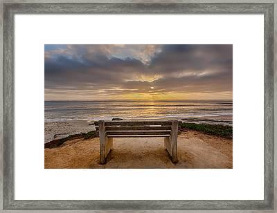 The Bench Iv Framed Print