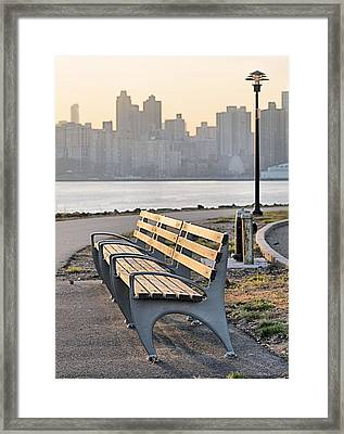 The Bench Framed Print by JC Findley