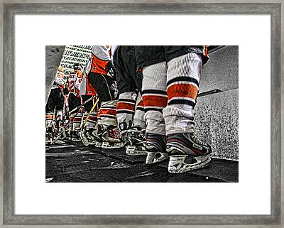 The Bench Framed Print by Mike Bria