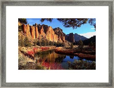 The Bend In The River Framed Print by Coby Cooper