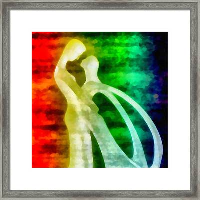 The Benediction Of The Neon Light Framed Print