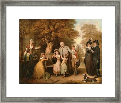 The Benevolent Heir Or The Tenant Restored To His Family Framed Print