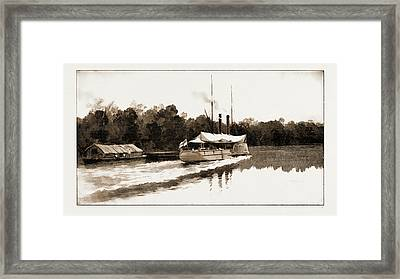 The Benin Punitive Expedition A River Scene On The Way Framed Print