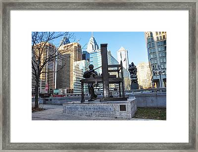 The Benjamin Franklin - Craftsman Statue -  Philadelphia Framed Print