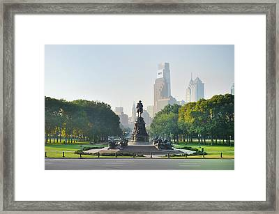The Benjamin Franklin Parkway - Philadelphia Pennsylvania Framed Print by Bill Cannon