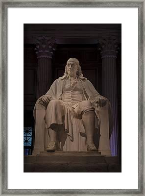 The Benjamin Franklin Statue Framed Print