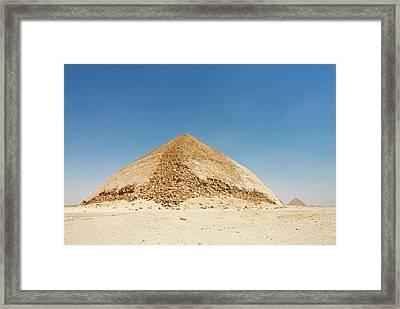 The Bent Pyramid At Dashur, Cairo, Egypt Framed Print