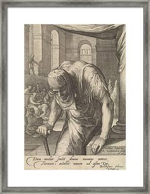 The Bent Woman, Jan Saenredam, Balthasarus Schonaeus Framed Print by Jan Saenredam And Balthasarus Schonaeus And Gerard Valck