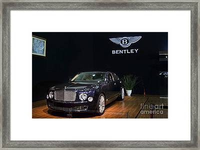 Framed Print featuring the photograph The Bentley Mulsanne Mulliner by Mohamed Elkhamisy