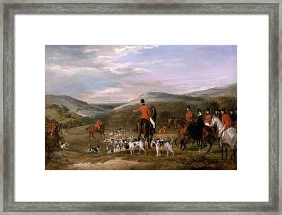 The Berkeley Hunt, 1842 The Meet Signed And Dated Framed Print
