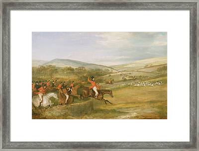 The Berkeley Hunt, Full Cry, 1842 Framed Print