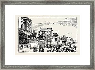 The Berlin Congress,entrance To The Royal Castle Framed Print