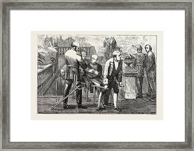 The Berlin Congressprince Gortchakoff Being Carried Framed Print