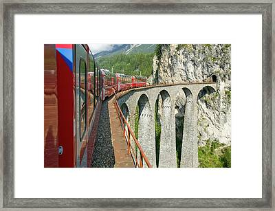 The Bernina Glacier Express Framed Print