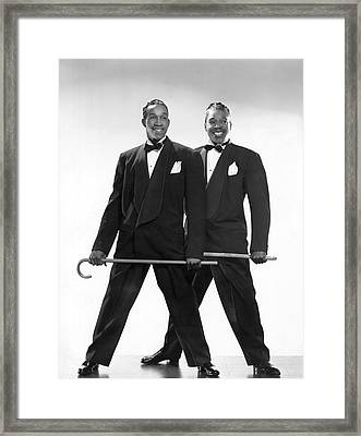 The Berry Brothers Dance Team Framed Print by Underwood Archives
