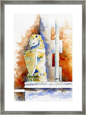 The Bessborough Lion Framed Print by Pat Katz