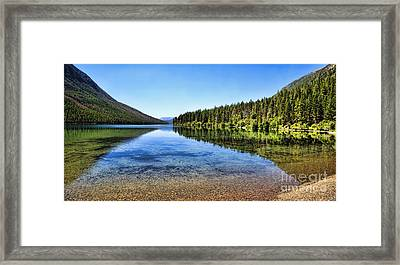 The Best Beach In Glacier National Park Panorama 2 Framed Print by Scotts Scapes